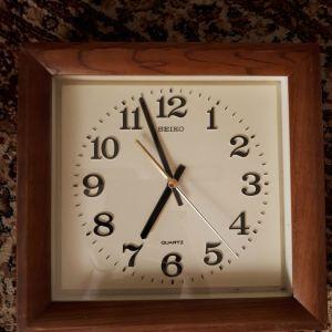 Αντίκα ρολόι τοίχου SEIKO ξύλινο