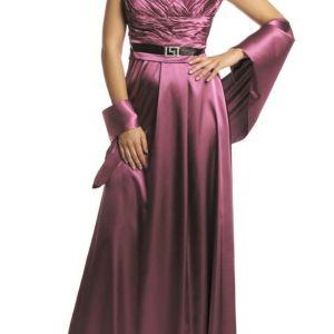 Επίσημο μακρύ σατέν φόρεμα μεγαλα μεγεθοι
