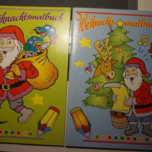 2 βιβλια ζωγραφικης χριστουγεννιατικα