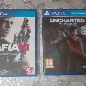 Πωλουνται Mafia III και Uncharted the lost legecy για PS4