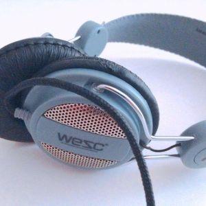 WeSC OBOE Street On Ear Headphones Grey w/ Handsfree