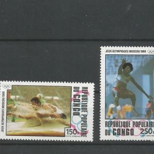 CONGO -1980 OLYMPIC GAMES MOSCOW MNH ( 726-729 )