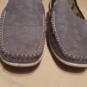 Παπούτσια μοκασινια σε jean υφασμα