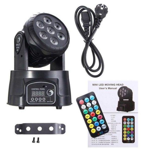 moving head wash led mini rompotika + remote