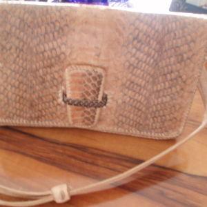Τσάντα γυναικεία από γνήσιο φίδι και δέρμα