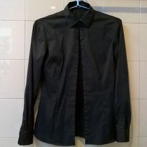 Πουκάμισο μαύρο Massimo Dutti