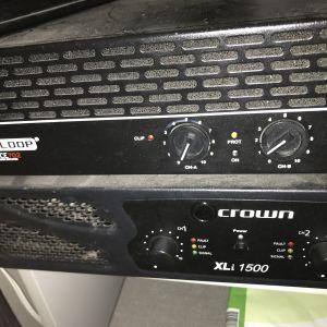 Ενισχυτής CROWN XLI1500 και reloop dominance 702 ευκαιρία !!!!
