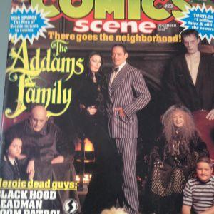 Περιοδικό Comics Scene Τεύχος 23, Εξώφυλλο The Addams Family, 1991