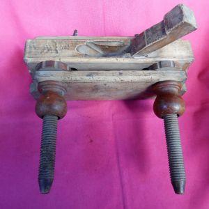 Προπολεμικό ρυθμιζόμενο ξύλινο ροκάνι με λεπτό κοπίδι