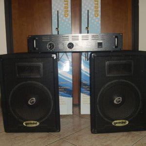 ΣΕΤ ΕΝΙΣΧΥΤΗ-ΗΧΕΙΩΝ, Koenig AMP4800, Gemini GT-1002, ΣΥΝ ΒΑΣΕΙΣ-ΚΑΛΩΔΙΑ Crystal Audio