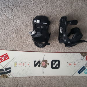 Snowboard Salomon Ace + Δέστρες Salomon Force