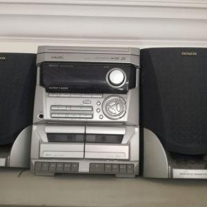 Κασετόφωνο cd player aiwa με ηχεια.