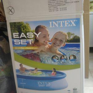 Intex easy set  πισίνα με το καλυμα της