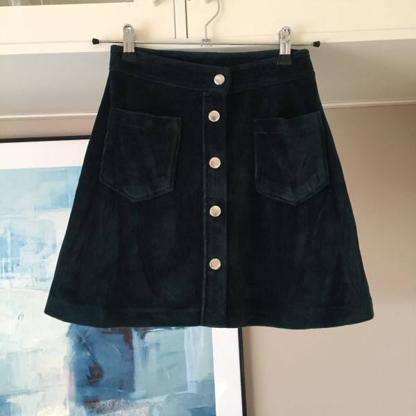 2a5f829f616 Pull&Bear σουεντ mini φούστα σε γραμμή Α