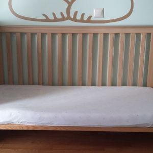 ΚΟΥΝΙΑ Baby Vox OakLand με στρώμα 70 επί 140 cm