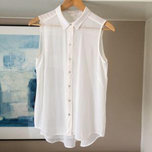 Καινούργιο H&M λευκό see through πουκάμισο