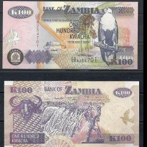 ZAMBIA 100 KWACHA (ZMK) 2008 UNC
