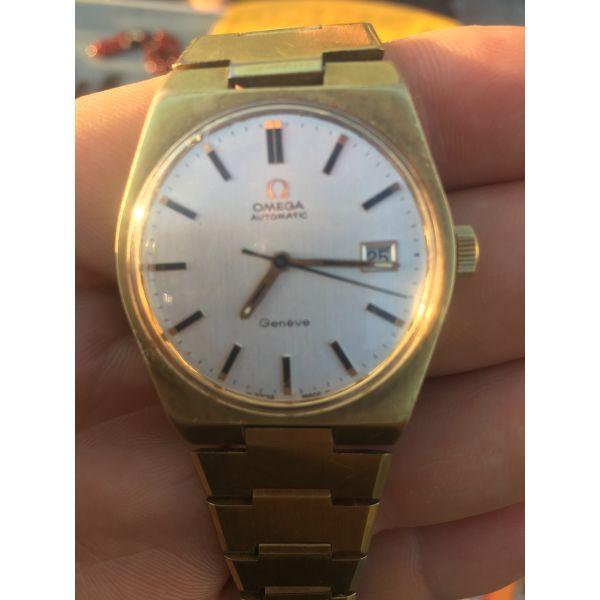 Omega Automatic Geneve 1971 gold plated original patina ref:166.099 / Cal: 1481 - Vintage ρολόγια