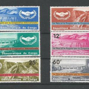 CONGO - 1965 COOPERATION INTERNATIONALE MNH ( 599-604 )
