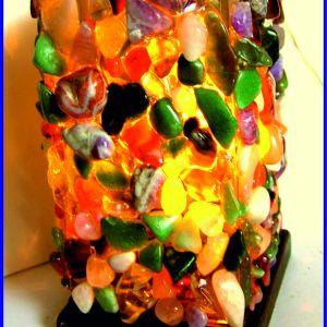Λαμπατέρ με ημιπολύτιμες πέτρες