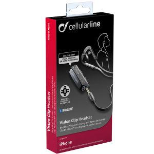 Ακουστικά Bluetooth Cellular Line Stereo Vision Clip Μαύρο (ΕΝΤΕΛΩΣ ΑΧΡΗΣΙΜΟΠΟΙΗΤΟ)