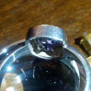 Ασημένιο Δαχτυλίδι με Ρουμπινι