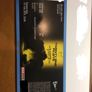 TWENTY ONE PILOTS 14.02.2019- 1 Εισιτήριο, Βερολίνο- 1 seated ticket, Berlin