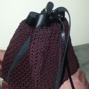 Καινούργια χειροποίητη πλεκτη τσάντα ώμου