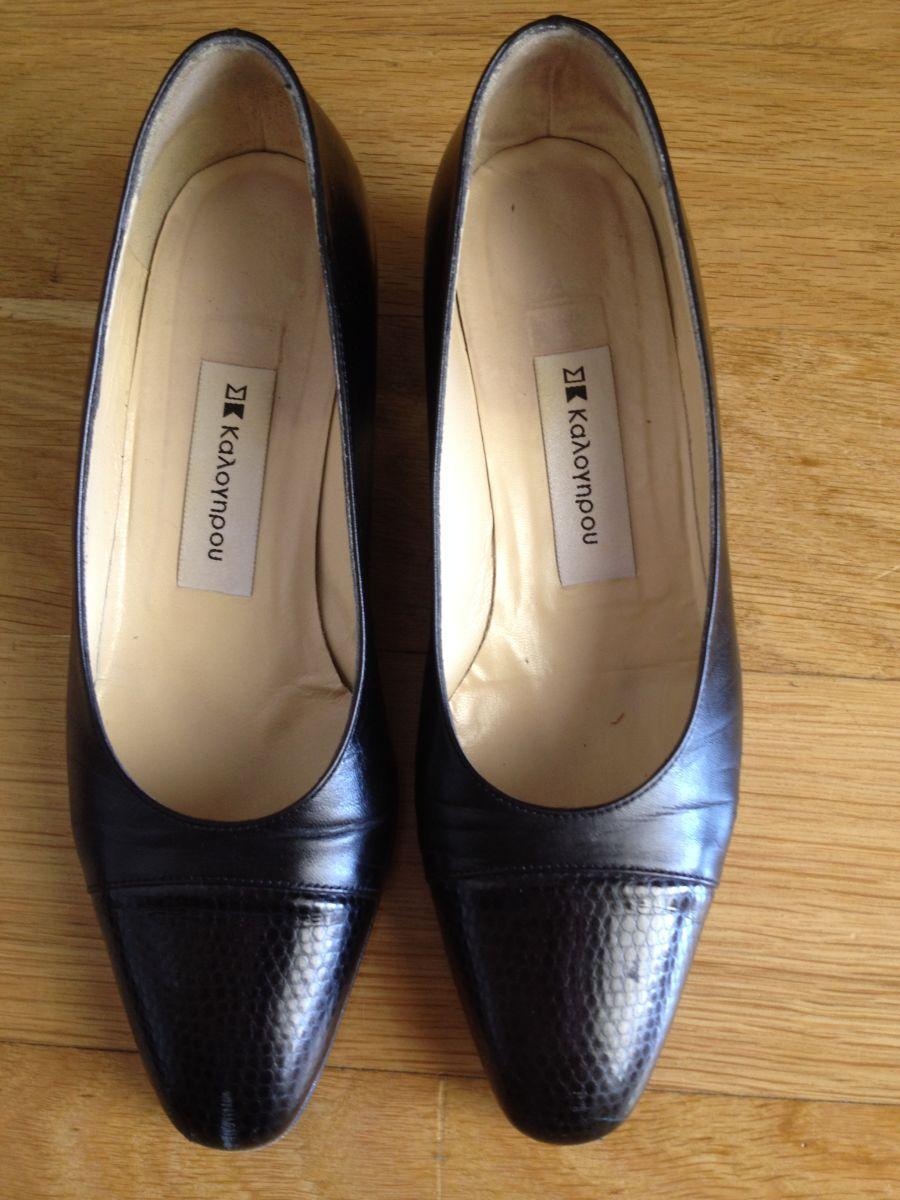 3e4da2e8b8 Παπούτσια μαύρα Καλογήρου No 6 - € 15 - Vendora.gr