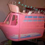 Vintage Barbie plane train boat