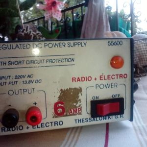 REGUALATED DC POWER SUPPLY 55600.WITH SHORT CIRGOIT PROTECTION