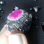 Μαζαράκη δαχτυλίδι φαρδύ με φούξια πέτρα - αγγελίες σε - Vendora.gr b5457a71fc7
