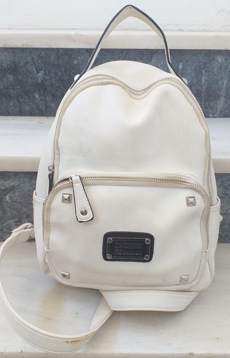1af45e0fa2 Άσπρη τσάντα ώμου και πλάτης με φερμουάρ… - € 30 - Vendora.gr