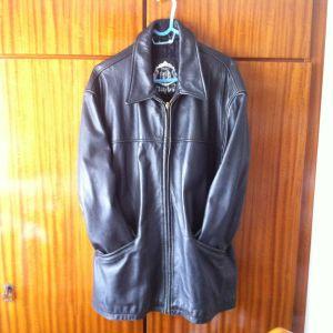 Aυθεντικό μαύρο δερμάτινο παλτό Timber Leather από γνήσιο δέρμα βουβαλιού  σε πολύ καλή κατάσταση 646789ced8a