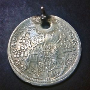 "Austrian States OLMUTZ Wolfgang ""ΣΠΑΝΙΟ"" Ασημένιο Νόμισμα (6 Kreuzer 1712)"