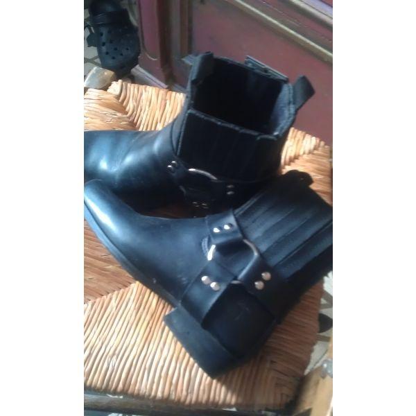 320afa1e9c mpotakia ginekia dermatina mavra (Motorcycle Boots ) !!! Μποτακια γυναικεια  δερματινα μαυρα (Motorcycle ...
