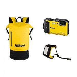Nikon Αδιάβροχη Digital Camera Coolpix AW130 Diving Kit Κίτρινο