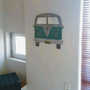 Μοναδικος ξυλινος καθρεφτης VW T1