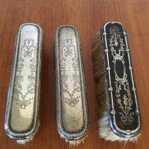 Vintage σετ με βούρτσες από ασήμι
