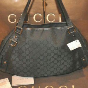 Gucci Abbey Tote bag μαύρη