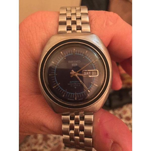 Seiko 5 Sports Finder 6119-8450 blue dial 70m proof Μαρτιος του (1971)..αρκετά σ - Vintage ρολόγια