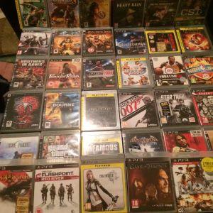 PS3 + 35 παιχνίδια + 2 χειριστήρια