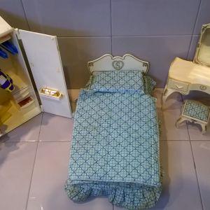Κρεβατοκάμαρα κούκλας Sindy Vintage