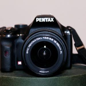 Pentax K-m + pentax lens 18-55